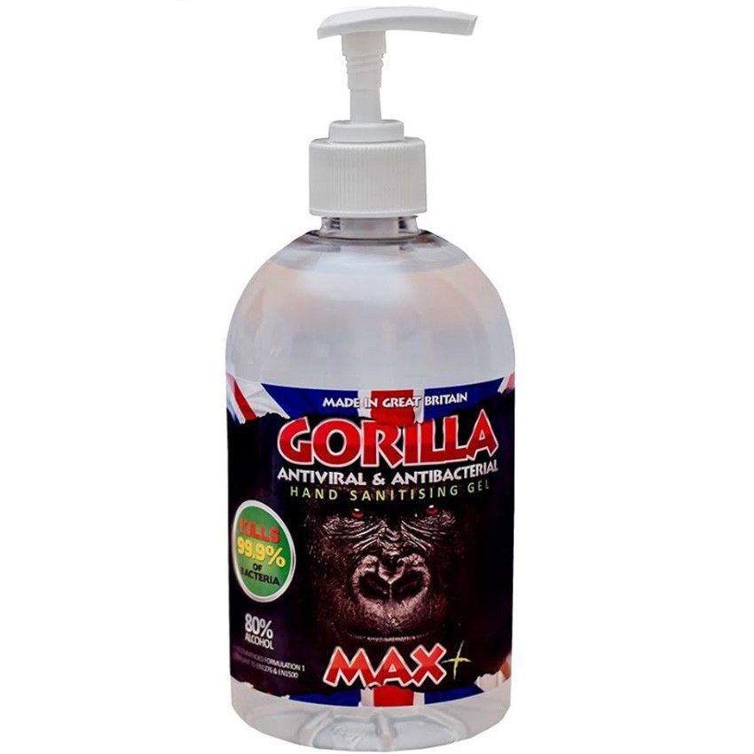 Gorilla MAX+ 80% Alcohol Hand Sanitiser Gel Dispenser WHO Approved Formula 1