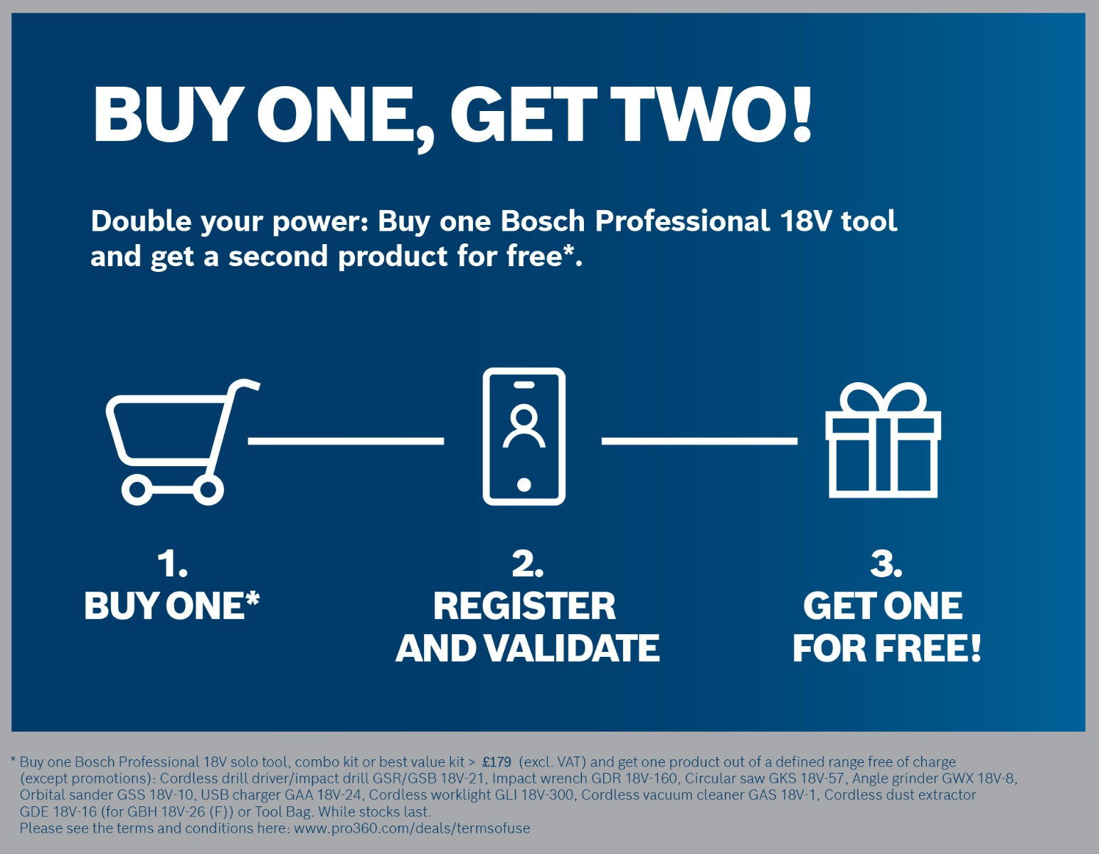 Bosch 2 for 1 Promotion