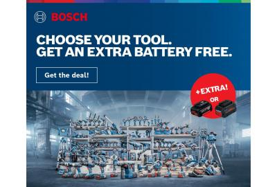 Bosch – Choose Your Tool, Get A Free Battery