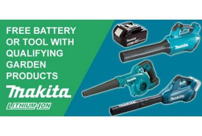 Free Tools & Batteries With Makita's Garden Redemption Promotion