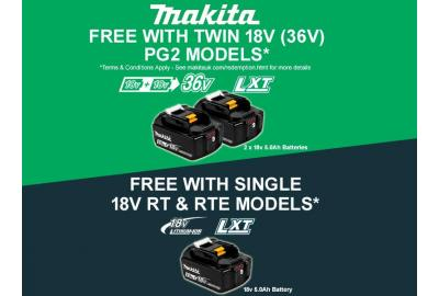 Free Batteries With Makita's Garden Redemption Promotion