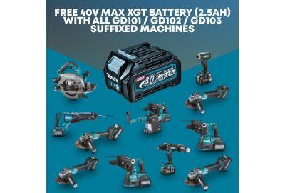 Free Makita Battery With Selected XGT Tools