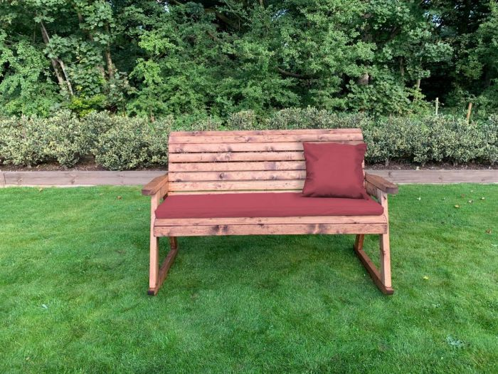 3 Seater Rocker Bench Rocking Chair, Outdoor Rocking Bench With Cushions