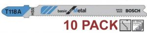 10 x Bosch T118A 92mm Thin Sheet Metal Jigsaw Blades