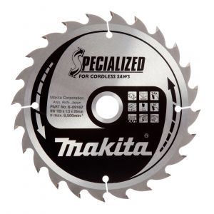 Makita Specialised Saw Blade 190 X 30mm 24T for 5704RK 5704R B-09422 HS7601J