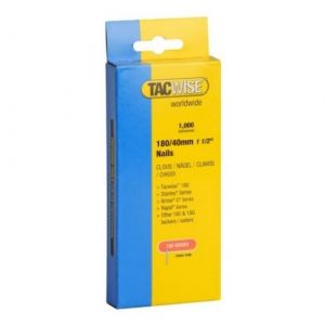 Tacwise 180 Series 0747 Pack of 1000 x 18 Gauge 40mm Nails Trademans Pack