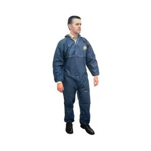 Scan Disposable Overall Coverall Triple Stitched Double Zipped Large SCAWWDOXL