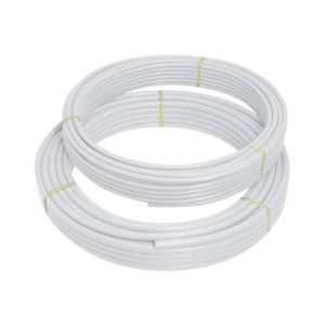 Polypipe PolyFit FIT5022B 22mm X 50m Coil Barrier Pipe - White