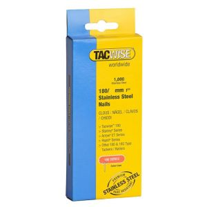Tacwise 180 Series 1068 Pack of 1000 x 18 Gauge 35mm Nails Stainless Steel