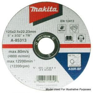 "Makita 115mm 4.5"" Metal Cutting Disc 22mm Bore Flat Disc Metal Masonry 1,2,10"