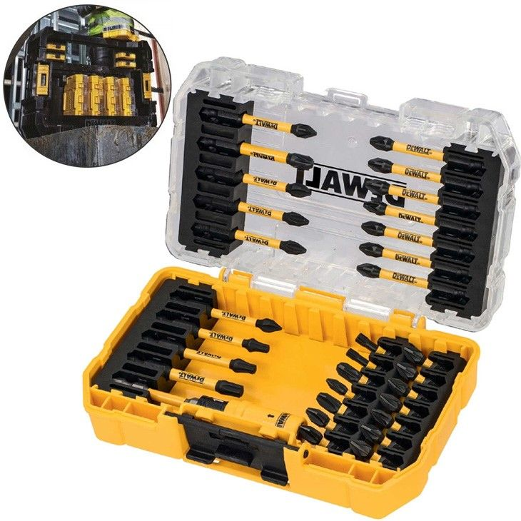 Dewalt 10 Piece Extreme Impact Torsion Screwdriving Set Magnetic Pivot DT70518T