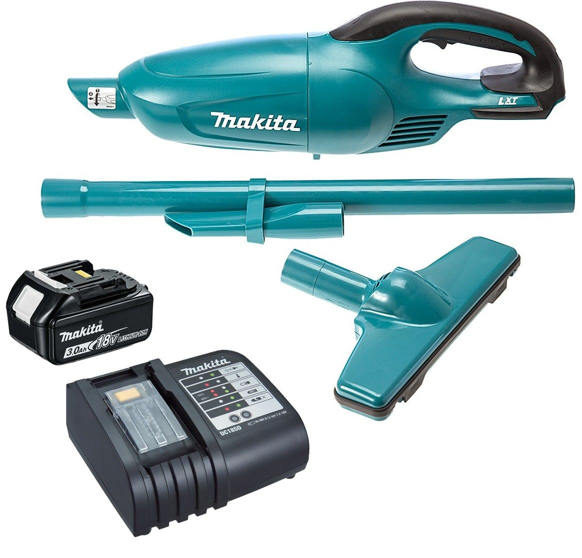 Makita DCL180Z Cordless 18V Li-ion Vacuum Cleaner Body with 1 x 3.0Ah Battery