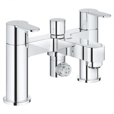 Grohe 25217 BauEdge Two-Handled Deck Mounted Bath Shower Mixer Tap