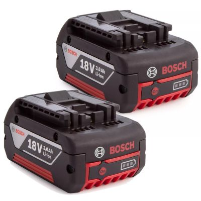 2X Bosch 18v 3.0Ah Li-ion Coolpack Battery Lithium Ion Cordless 3.0ah Cool Pack
