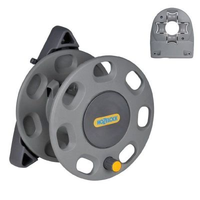 Hozelock 30m Wall Compact Mounted Hose Reel 2420 and Wall Mounted Hose Guide