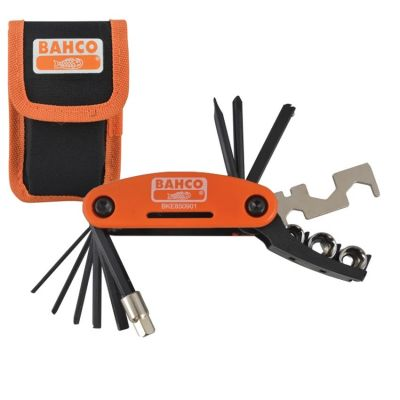 Bahco BKE850901 17 Piece Bicycle Tool Bike Multi Tool Socket Set with Pouch