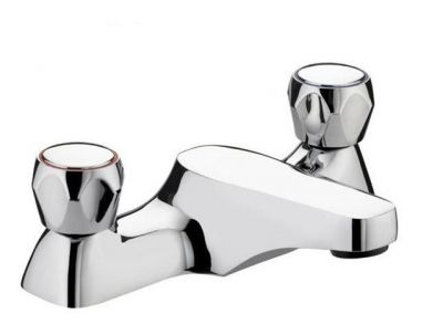 Bristan Club Utility Bath Filler Taps Chrome Plated with Metal Heads