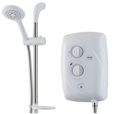 Triton Evani Fast Fit 9.5Kw Slimline Electric Shower Easy Fit White Chrome T80Z