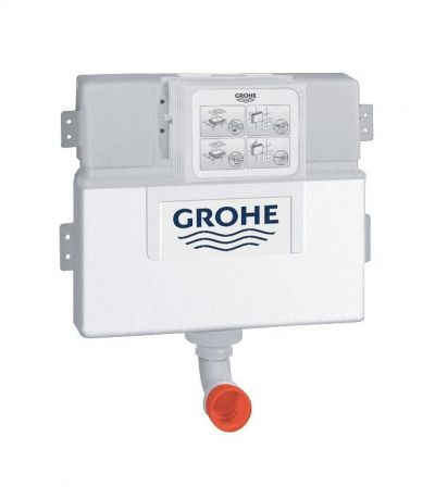Grohe 38422 WC Concealed Cistern Dual Flush Front Top Actuation