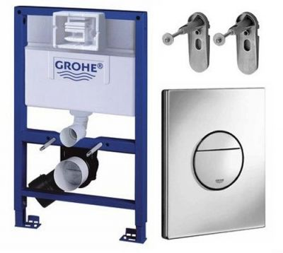 Grohe 38526 Rapid SL 3 in 1 WC Set - 0.82m Concealed Frame Cistern Plate