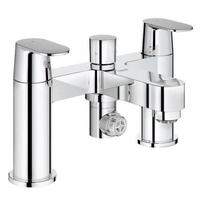 Grohe 25129 Eurosmart Cosmo Two-Handled Deck Mounted Bath Shower Mixer Tap Lever