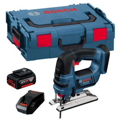 Bosch GST 18VLI 18v Jigsaw Lithium-Ion with 5.0ah Battery, Charger + L-BOXX