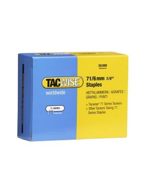 Tacwise 0367 Type 71 Box of 20,000 Staples 6mm 71 Series ideal for upholstery applications