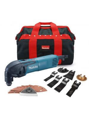 Makita TM3000C 110v Oscillating Multi Tool + 7pc Blade Set, Sanding Pad, Sheets