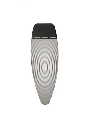 Brabantia Ironing Board Cover Size D 135 x 45cm 266782 Titan Oval Grey Black